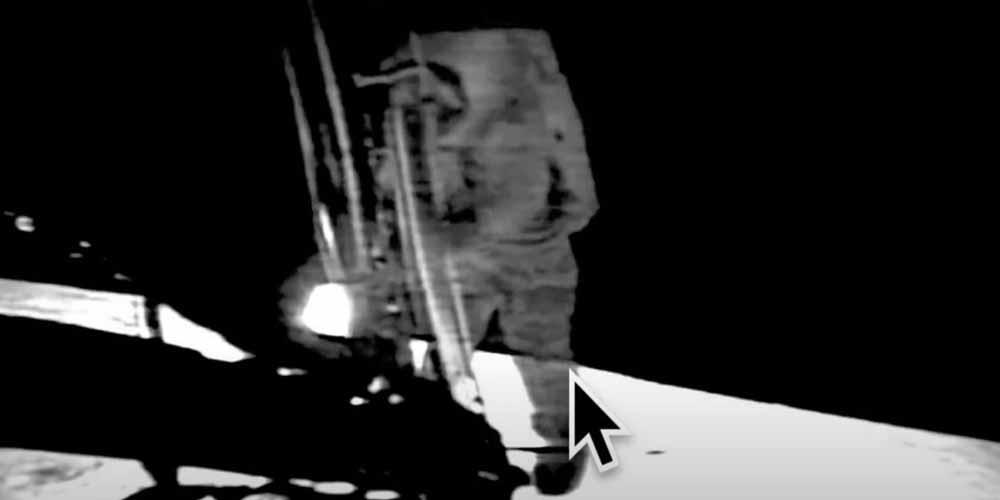 Apollo 11 nel filmato gli astronauti sono trasparenti
